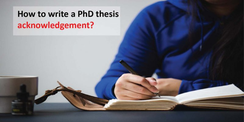 PhD thesis acknowledgement