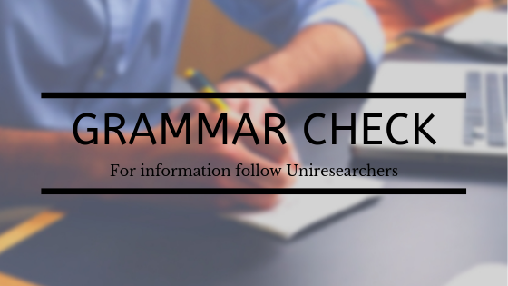 Grammar Check for your essay writing