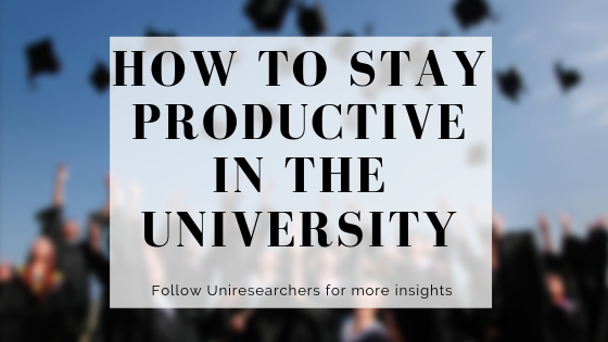How to Stay Productive in the University