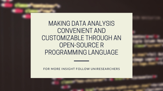 Making data analysis convenient and customizable through an open-source R programming language