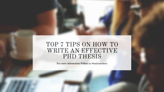Write phd dissertation
