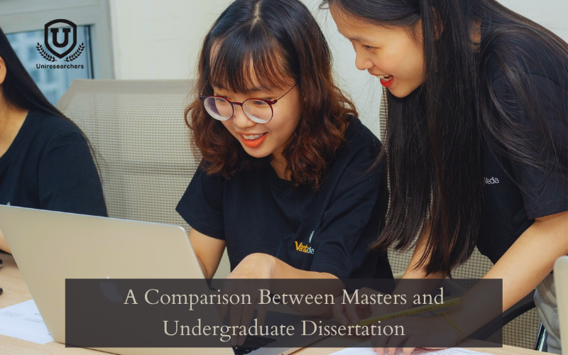 A Comparison Between Masters and Undergraduate Dissertation